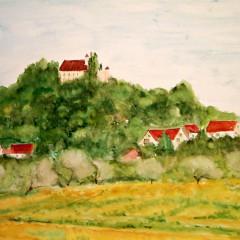Häuser mit Burg