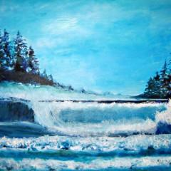 Wellen am Pazifik